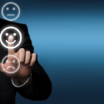 persona clicking happy face that nurture clients